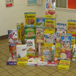 The United Methodist Nursery School Blocks Out Hunger.  128 boxes were collected and donated to local pantries.